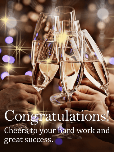 Cheers to Your Hard Work - Congratulations Card