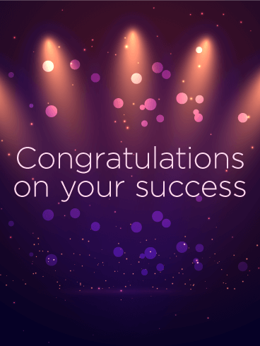 Celebrating Your Success - Congratulations Card