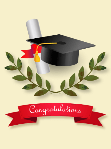 Graduation Ceremony Card