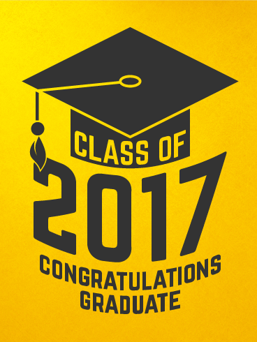 Yellow Stylish Graduation Card