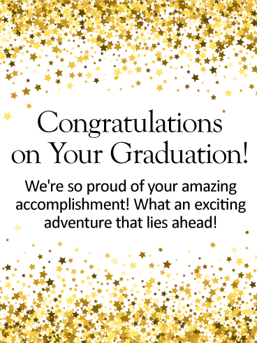 So Proud of You! Graduation Card