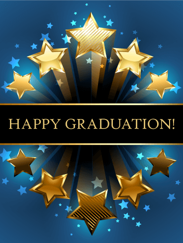 Shooting Star Graduation Card