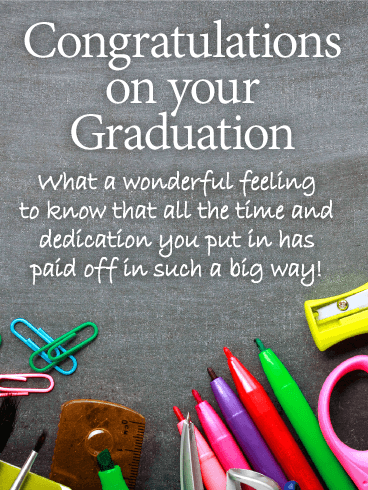 What a Wonderful Feeling! Graduation Card