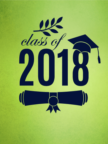 Green Graduation Card 2018