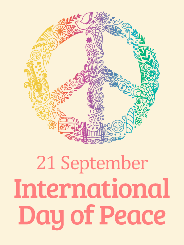 Rainbow Peace Symbol - International Day of Peace Card