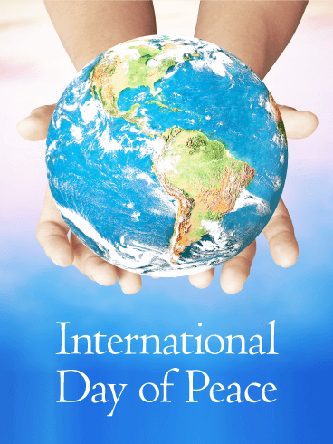 Blue Earth - International Day of Peace Card