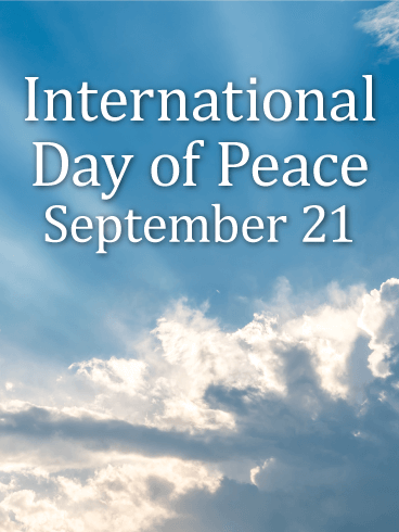 Sun Rays International Day of Peace Card