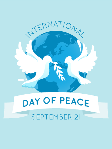 Peaceful Dove International Day of Peace Card