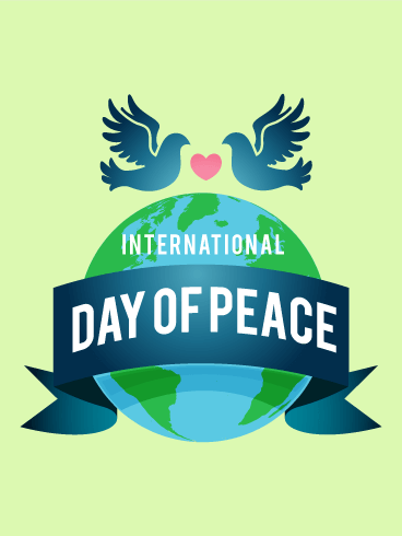 World Globe International Day of Peace Card