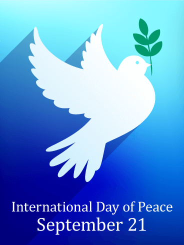 Bright Blue International Day of Peace Card
