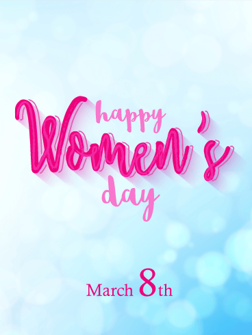 Sunshine International Women's Day Card