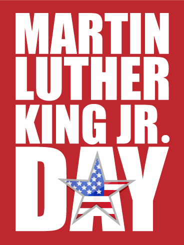 Happy Martin Luther King Day Card Birthday Greeting Cards By Davia