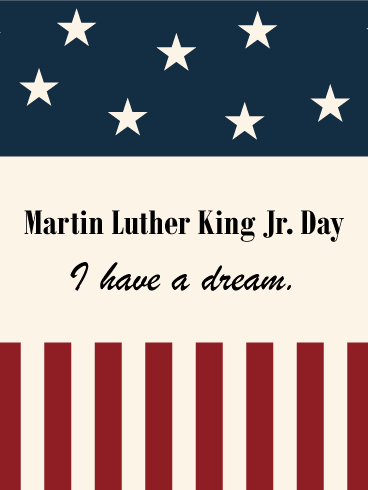 Flag Designed Martin Luther King Day Card