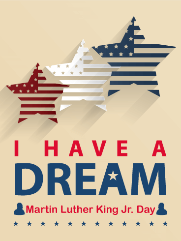 Three Stars Martin Luther King Day Card