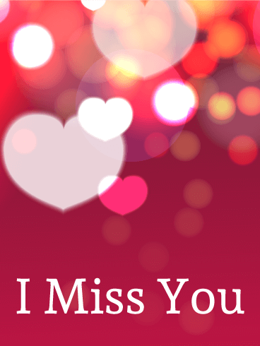 Shining Heart Miss You Card
