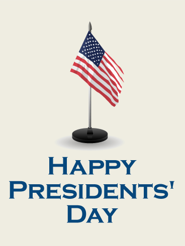 U.S. Flag - Presidents' Day Card