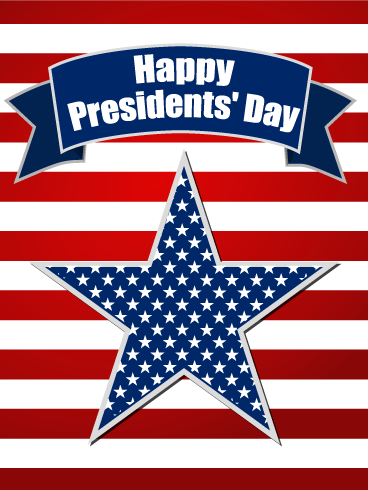 Happy Presidents' Day Star Card