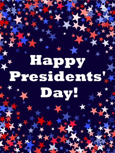 Three Colors Star Happy Presidents' Day Card