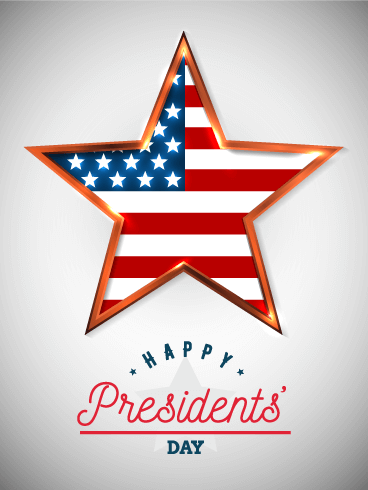 One Star Happy Presidents' Day Card