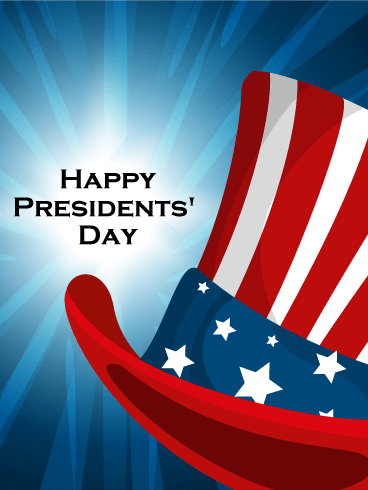 Shinning Background Happy Presidents' Day Card