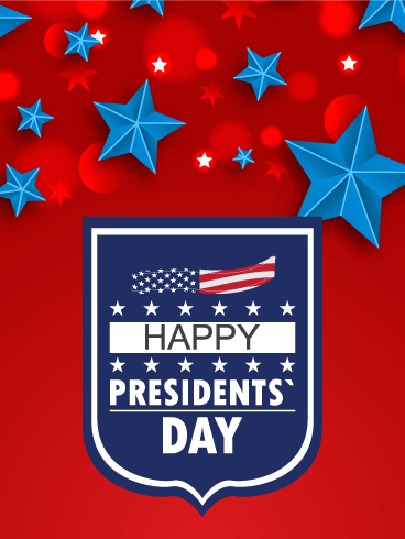 Blue Star Happy Presidents' Day Card