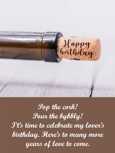 Pop the Cork – Birthday Wishes Card for Him