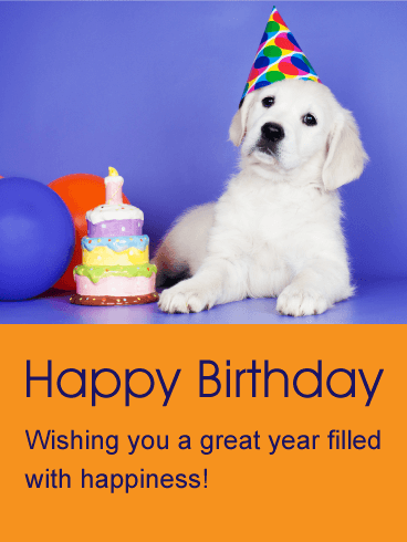 Wishing You a Great Year - Animal Birthday Card
