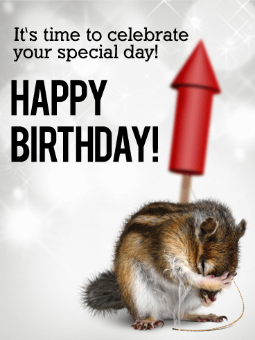 Time to Celebrate - Animal Birthday Card