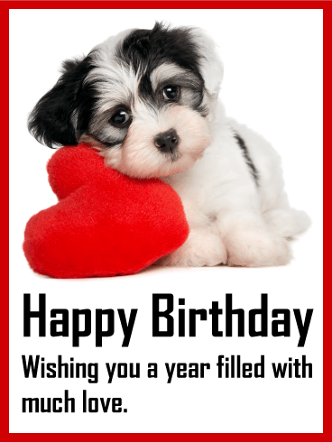 Loving Puppy Birthday Card