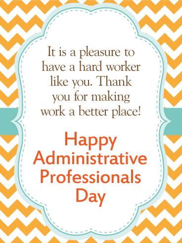 We are Thankful! Happy Administrative Professionals Day Card