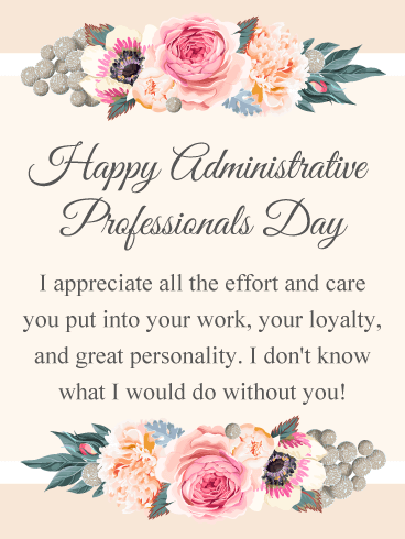 Appreciate Your Effort! Happy Administrative Professionals Day Card