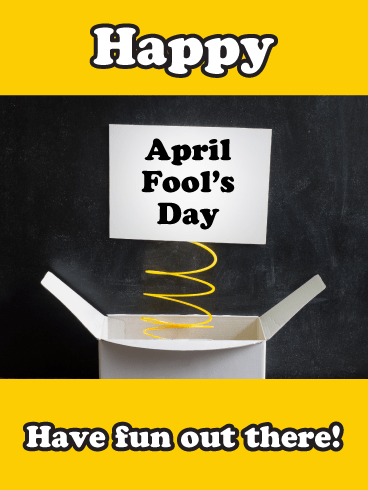 Pop-Up Prank- Happy April Fool's Day Card