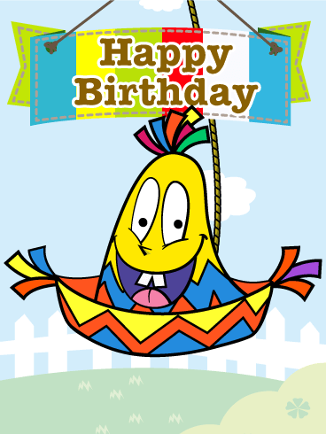 Mexican Hat Piñata Birthday Card