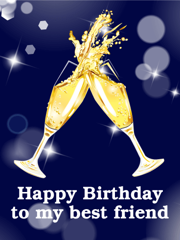 Cheers! Birthday Champaign Card