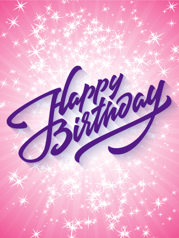 Sparkling Happy Birthday Card