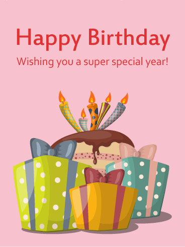 Wishing You a Super Special Year! -  Birthday Card