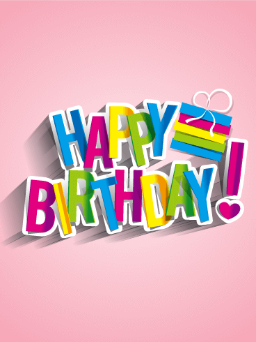 Cheerful Rainbow Happy Birthday Card