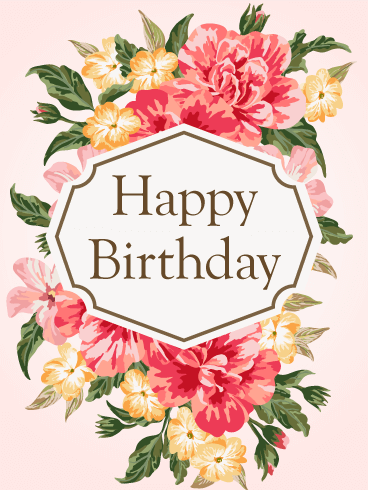 Gorgeous Flower Birthday Card for Her