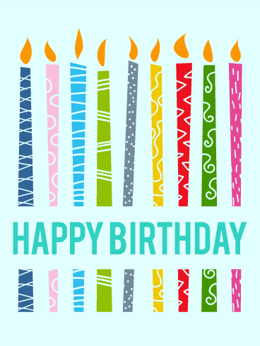 Lively Birthday Candle Card