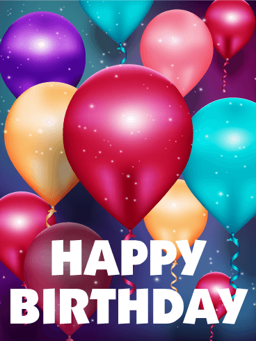 Glowing Birthday Balloon Card