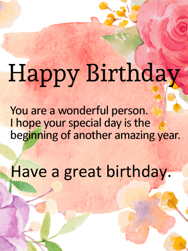 Have a Great Birthday - Happy Birthday Wishes Card
