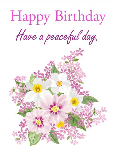 Its a birthday treat happy birthday card birthday greeting have a peaceful day happy birthday card bookmarktalkfo Gallery