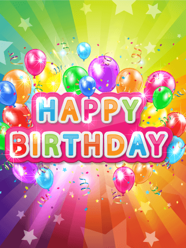 Super Colorful Happy Birthday Card