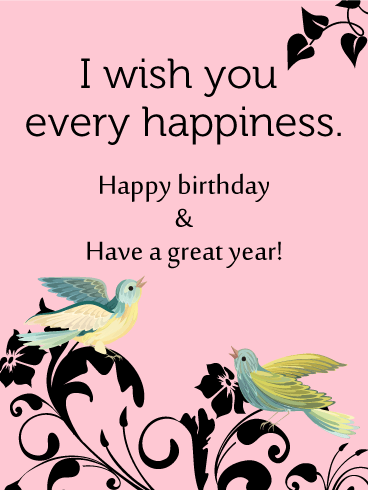 Birthday Birds Card