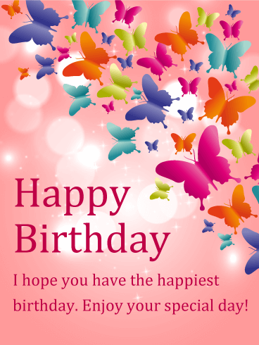 Birthday Butterfly Cards for Her Birthday Greeting Cards by