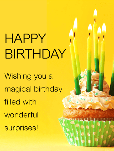 happy birthday wishing you a magical birthday filled with wonderful surprises