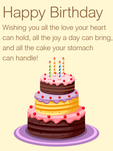 Wishing You all the Love Happy Birthday Wishes Card Birthday