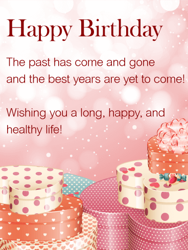 Wishing You a Happy Life - Happy Birthday Wishes Card