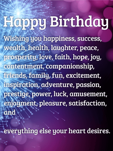 So Many Wishes - Happy Birthday Wishes Card