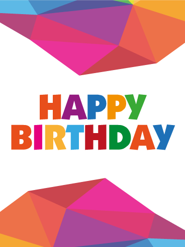 Abstract Art Happy Birthday Card